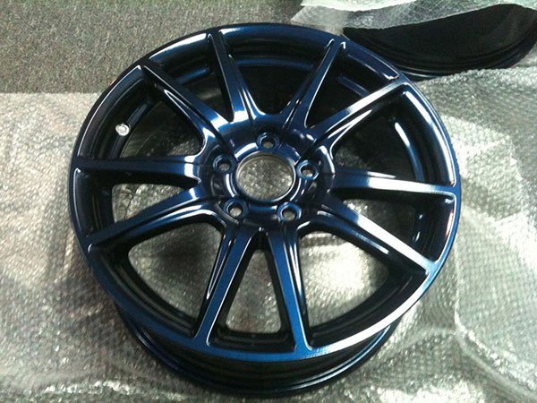 Powder Coated Alloy Wheels Pearl Finish Rainbow Powder