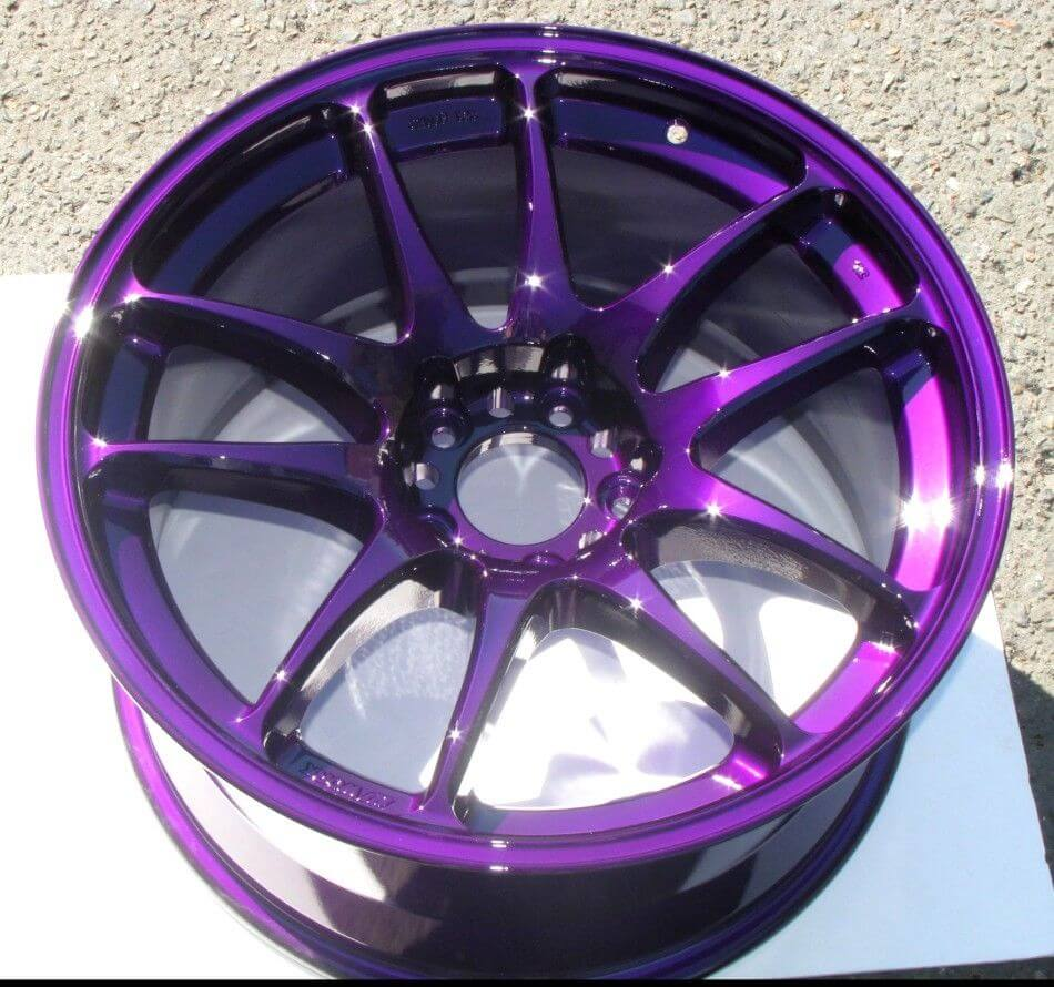 Powder Coated Pearl Gloss Purple Rim